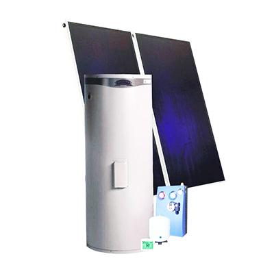 海林平板太阳能400L单盘管中央热水(适用于6-8口家庭)