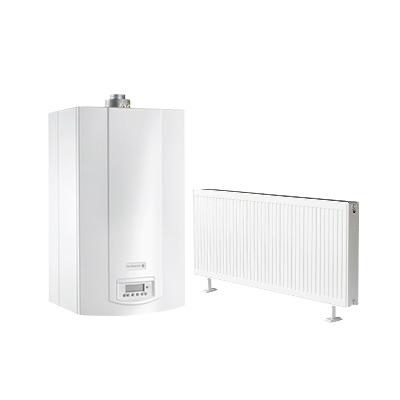 雅克菲暖气片+德地氏MSL燃气壁挂炉120㎡明装采暖(适用于三室两厅)