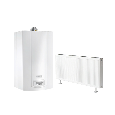 雅克菲暖气片+德地氏MSL燃气壁挂炉130㎡暗装采暖(适用于三室两厅)