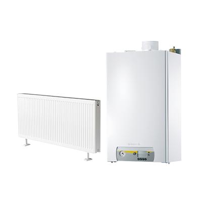 雅克菲暖气片+德地氏冷凝炉130㎡明装采暖(适用于三室两厅)