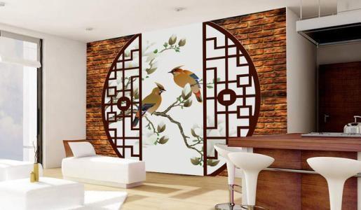 开放式的空间结构使得设计更为随意,素材以古典式装饰画或物件,壁炉