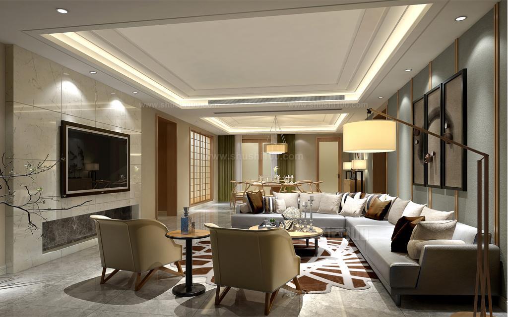 装修客厅吊顶—井格式风格类型 井格式的客厅吊顶主要是利用房屋的