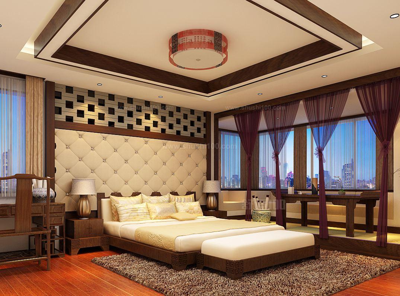 中式卧室吊顶—中式卧室吊顶的设计方法介绍图片