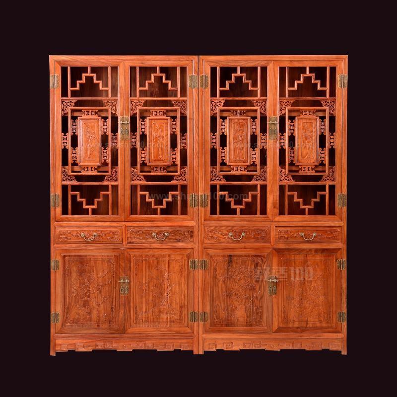 中式红木书柜—如何选购好的中式红木书柜
