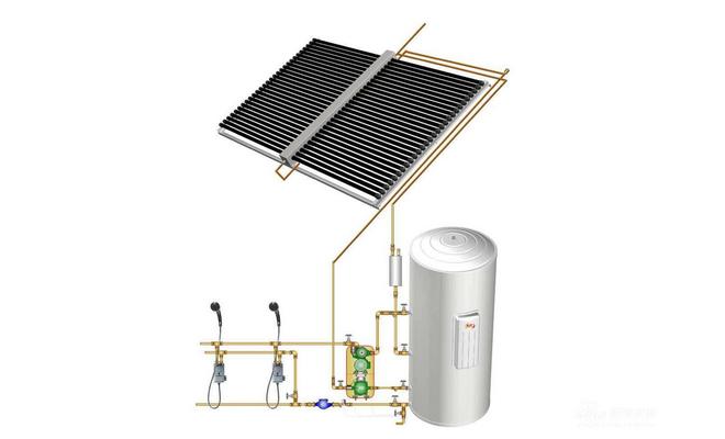 太阳能热水系统图—太阳能热水系统的工作原理及系统特点介绍