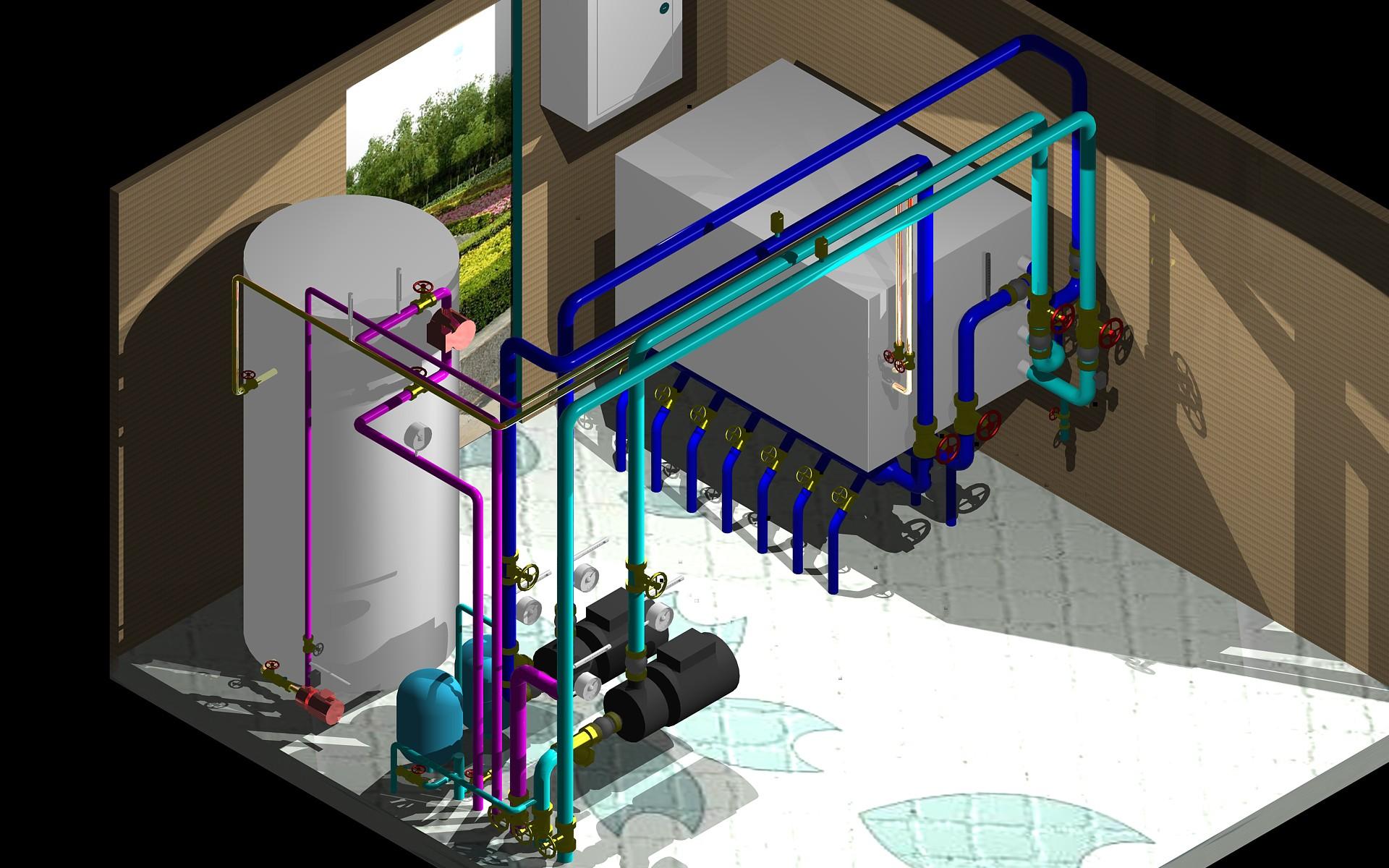 地源热泵机房安装—地源热泵机房的安装程序