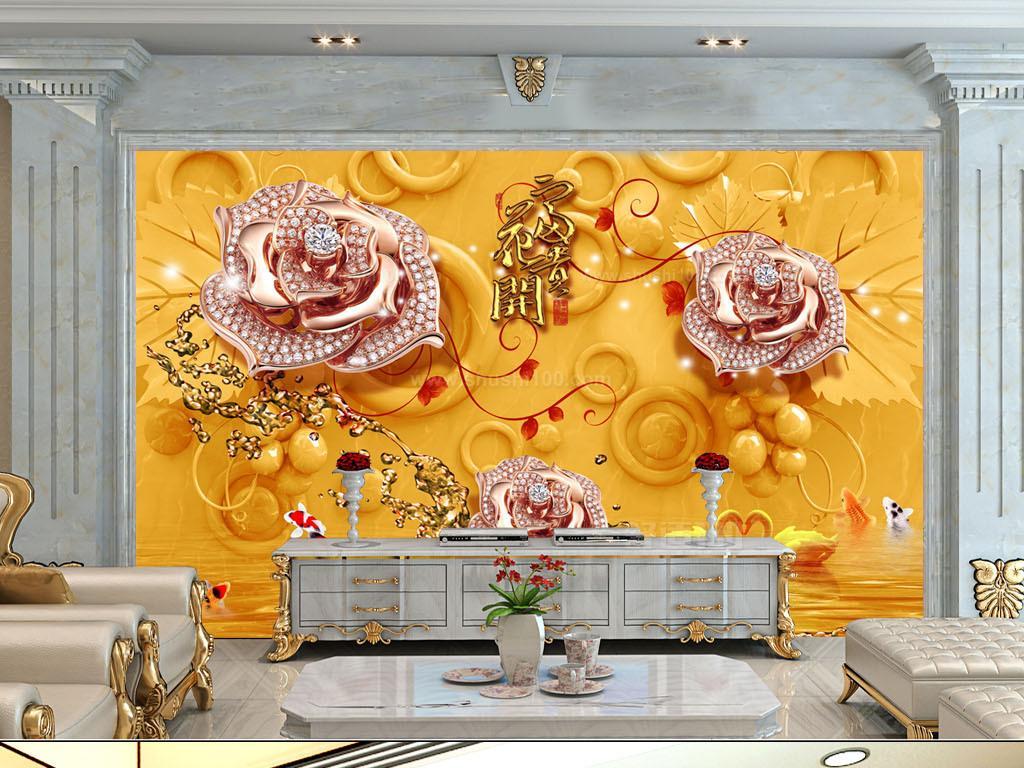 2,艺洋旗舰店 聚宝盆水晶玻璃画欧式山水风景油画 手绘中式壁画客厅