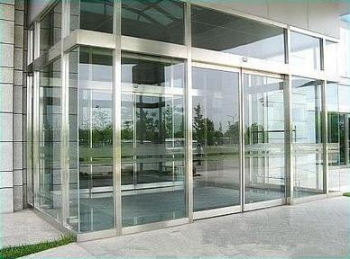 玻璃感应门-图纸感应门的安装方法-舒适100网按线吗玻璃建筑面积是外边外墙图片