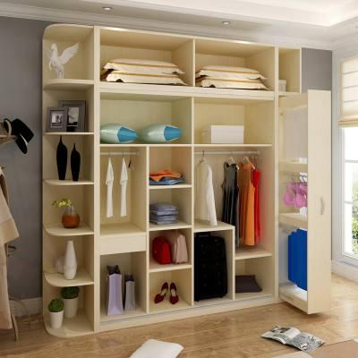 衣柜和书架连体效果图