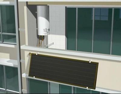 太阳能板热水器—平板太阳能热水器安装