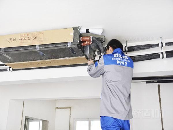 家用中央空调安装图-家用中央空调安装流程展示