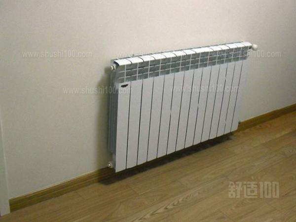铝制暖气片安装效果