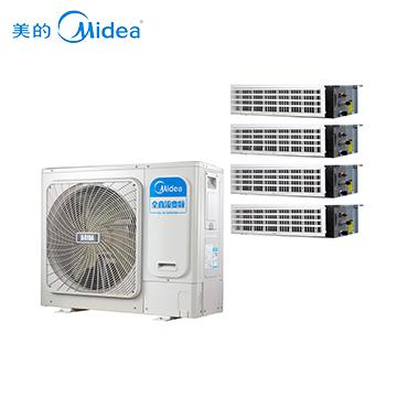 美的(Midea)家用中央空调 一拖四变频多联机 适用面积100-140㎡