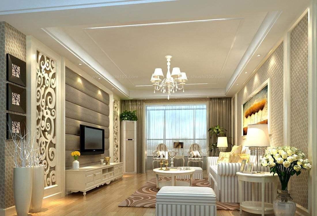客厅壁纸装修效果图—软包壁纸