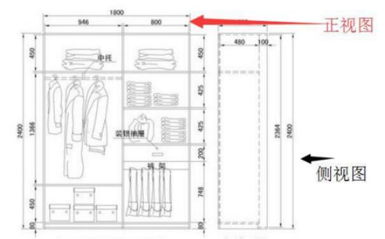 大衣柜尺寸,卧室大衣柜安装尺寸,通顶衣柜罗马柱安装方法