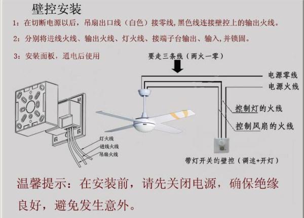 吊扇灯安装的方法介绍