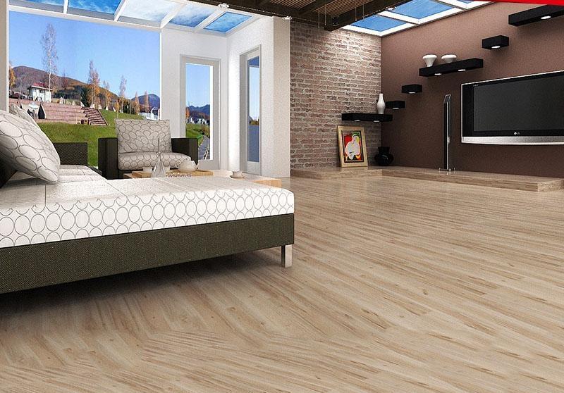 客厅地板砖效果图大全