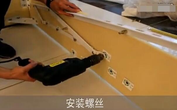 排骨架实木高箱床安装步骤,掀背式板式气压床组装方法图片