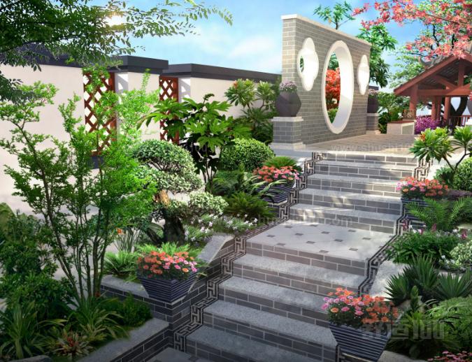 中式别墅庭院的设计理念