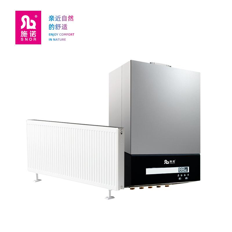 施诺全预混冷凝两用壁挂炉24KW+雅克菲暖气片系列150㎡暗装采暖(适用于四室两厅)