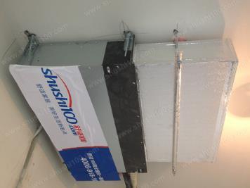 三菱重工中央空调施工图 室内主机安装完成