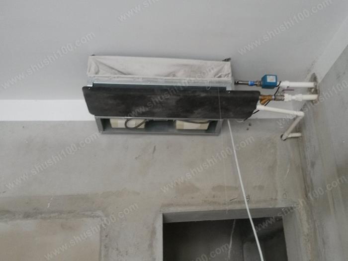 中央空调施工图 室内主机安装完成