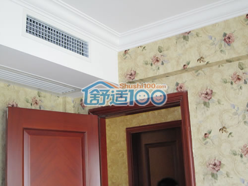 卧室 中央 空调出风口 ,局部吊顶隐藏安装 舒适