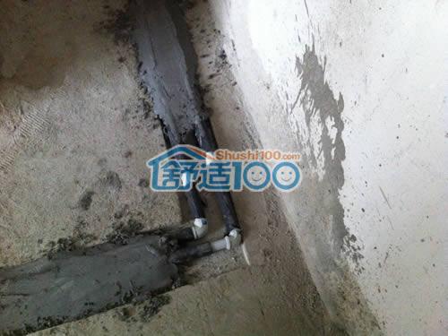 暖气片安装 主 水管开槽 走管 管路 隐藏在地面下