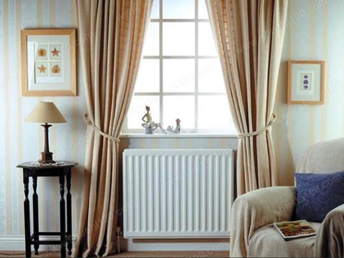 次卧客厅钢制板式暖气片装修效果图 暖气片提升家居装修档次