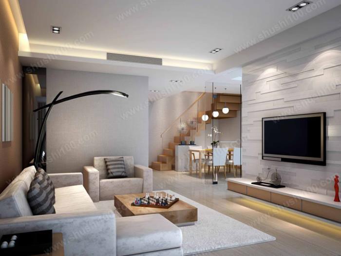 客厅鱼缸摆放效果图 客厅空调摆放效果图 客厅植物摆放效