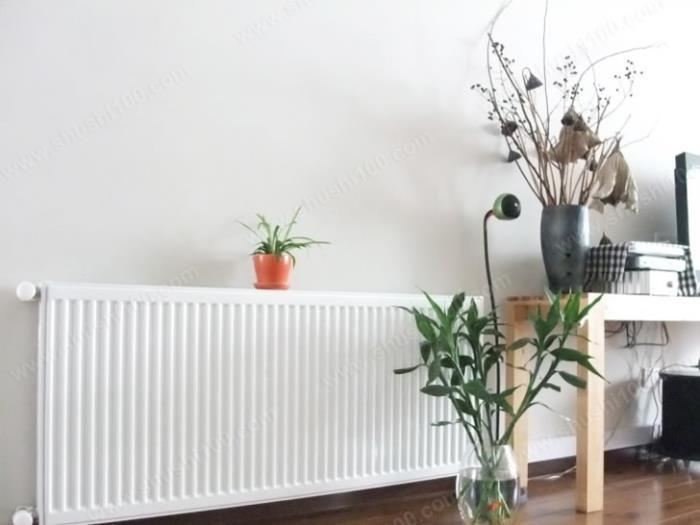 客厅钢制板式暖气片装修效果图,与白色墙面融
