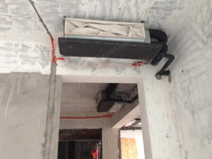 特灵中央空调水机施工安装图 风机盘管紧贴天花板 (1/5)