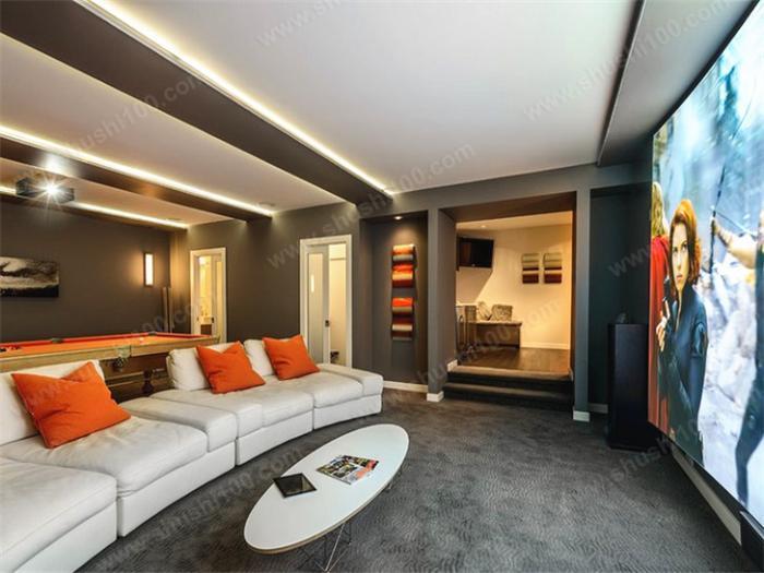 家庭影院装修效果图 家庭影院要配合灯光,空调,音响进行设计