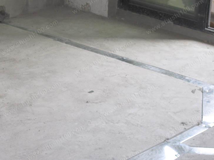 暖气片施工图 地面开槽安装管路