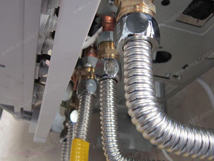 暖气片施工图 壁挂炉安装
