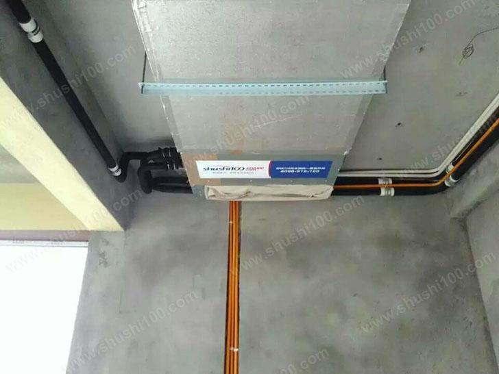 中央空调施工图 主机轻薄便于安装