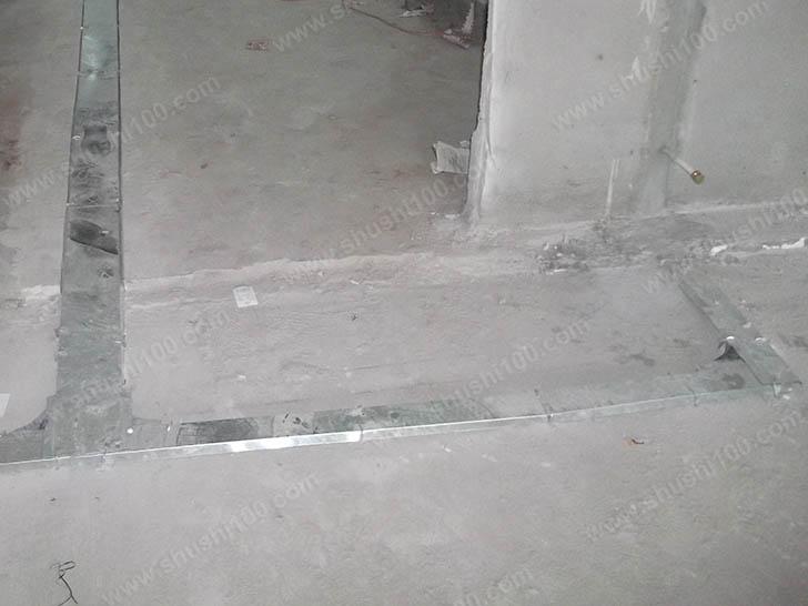 暖气片施工图 开槽铺设管路