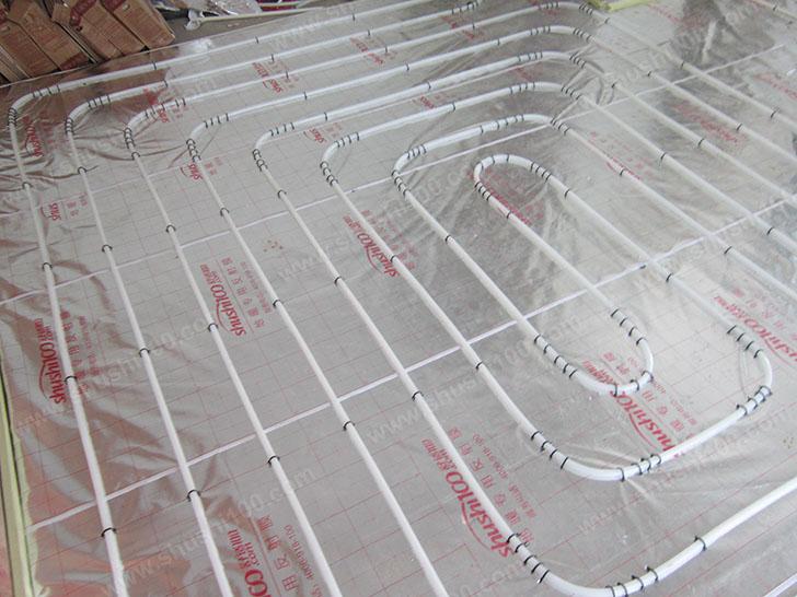 地暖施工图 地暖管铺设完成