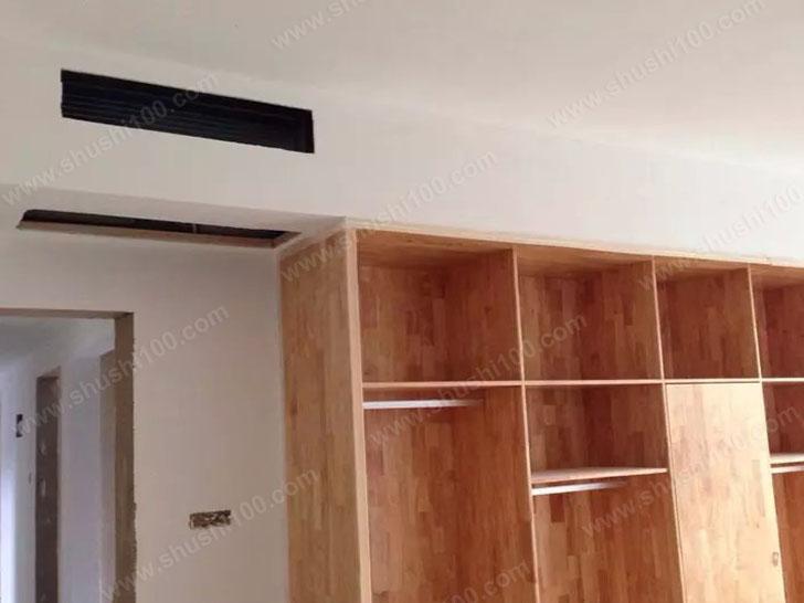 中央空调施工图 中央空调室内机安装,采用侧送下回的方式