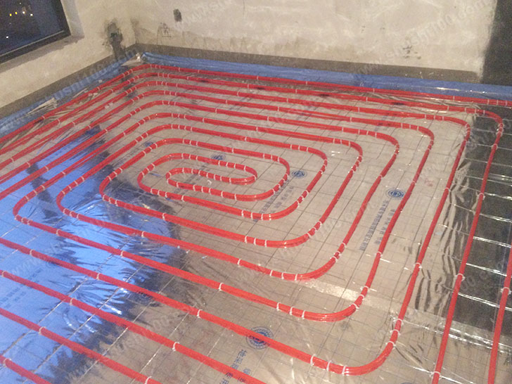 地暖施工图 地暖管铺设