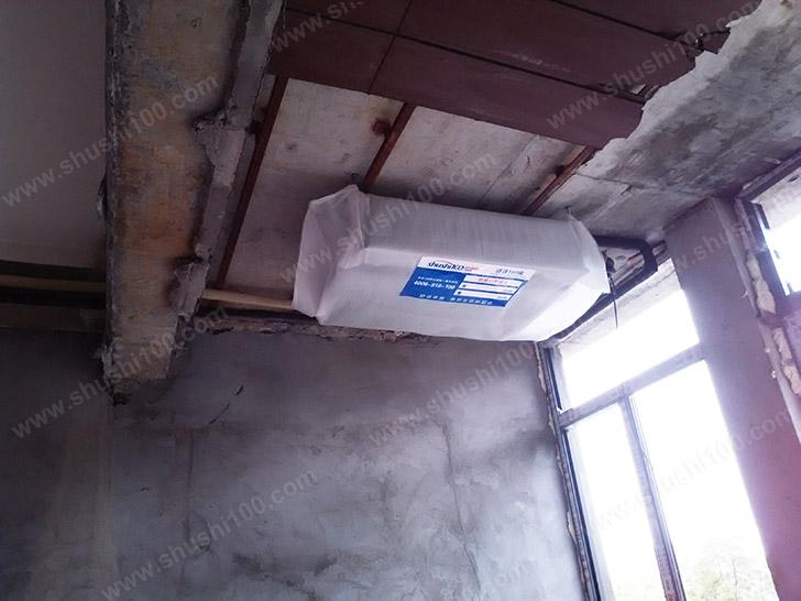中央空调施工图 靠窗安装