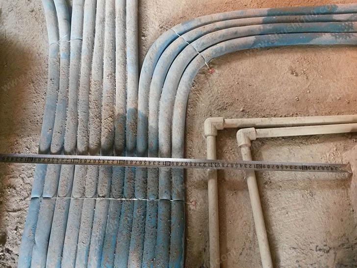 家庭采暖安装 测量管道距离