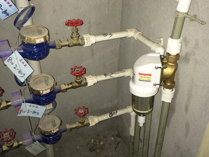 前置过滤器安装完成,一般安装于主水表后