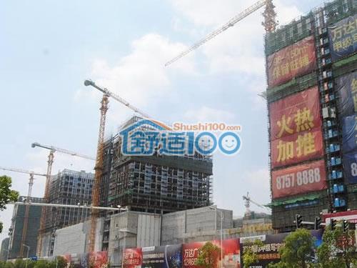 徐州万达广场特灵中央空调、室内通风安装现场直击