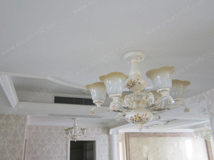 中央空调效果图 与灯饰相互映衬