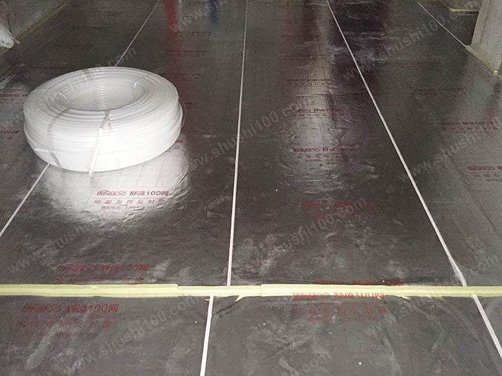 地暖材料进场 地暖管堆放整齐