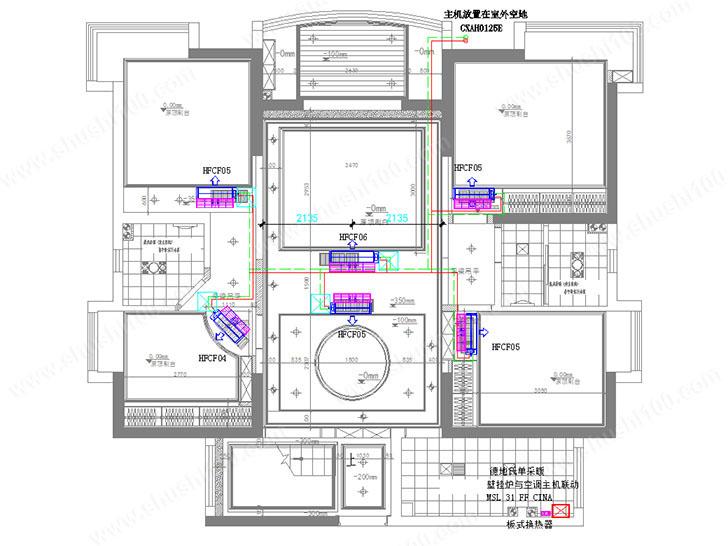 中央空调联动设计图
