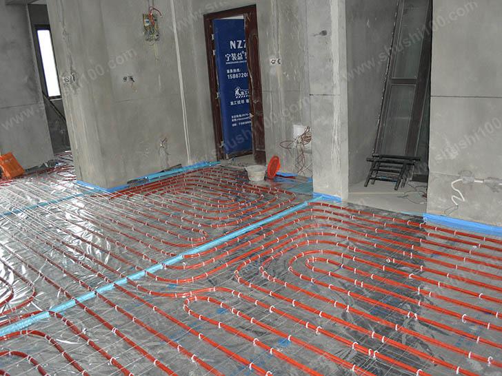 地暖施工图 铺设地暖管