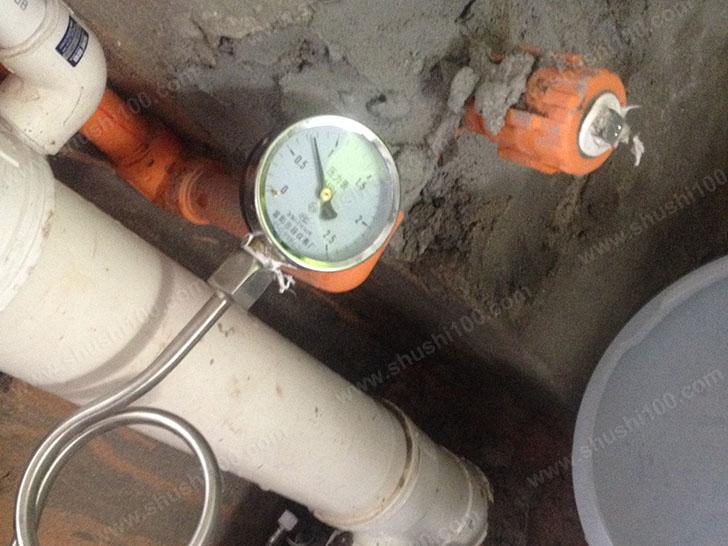 地暖施工图 打压测试