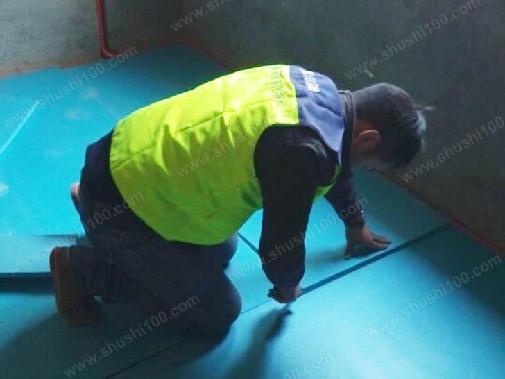 地暖施工图 铺设保温板